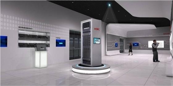 [北京]现代的通信产业园展厅工程设计方案(含效果图)-现代的通信产业园展厅工程设计方案(含效果图)效果图