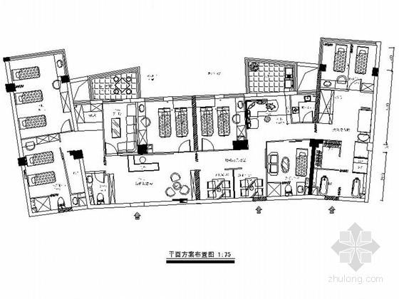 [福建]全国连锁欧式风格美容院室内装修施工图(含实景)