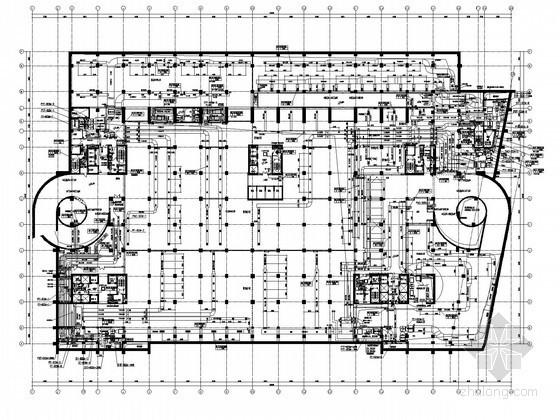 [北京]办公大厦暖通全套施工图纸250张(冰蓄冷,动力系统,人防)