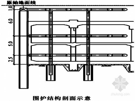 地铁车站深基坑围护结构及支撑体系水平变形分析