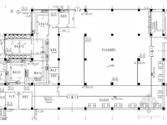 [四川]职业技术学校食堂公寓给排水施工图