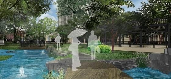 [武汉]典雅住宅小区及售楼处附属绿地景观扩初设计方案(知名设计公-景观效果图