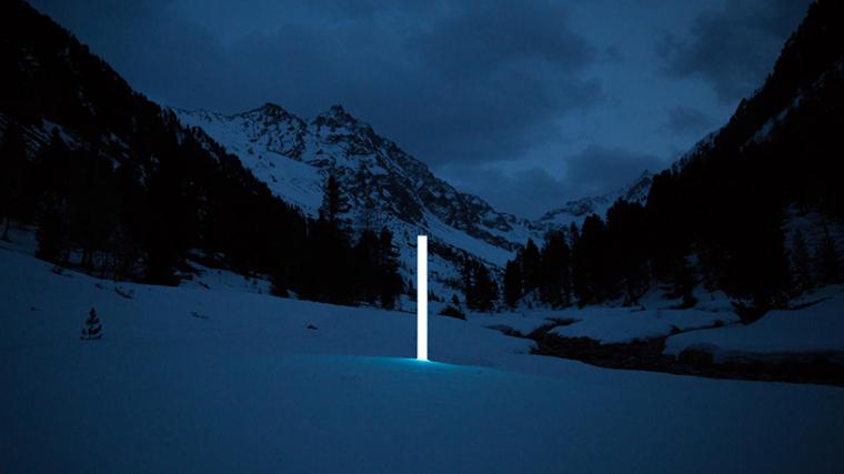 山谷和森林间的光束装置-00