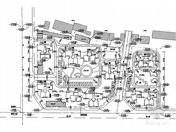 现代风格高层住宅区建筑总平面图