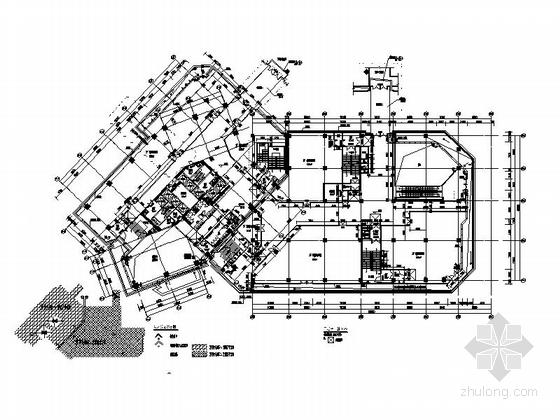 [南京]超高层铝合金墙面带底商研发办公楼建筑施工图-超高层铝合金墙面带底商研发办公楼建筑剖面图