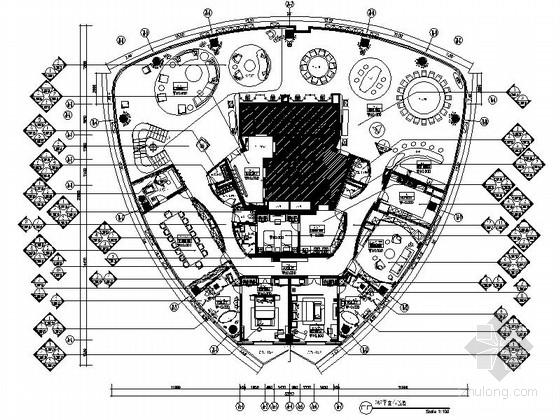 [上海]名师风韵雅致顶层复式会所室内装修设计施工图(含效果方案)