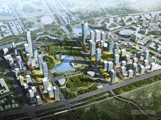 [江苏]城市经济核心地块规划设计方案文本(办公为主)