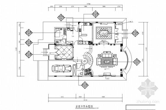 [广州]毗邻森林公园山清水秀高端住宅区欧式风格三层别墅装修图