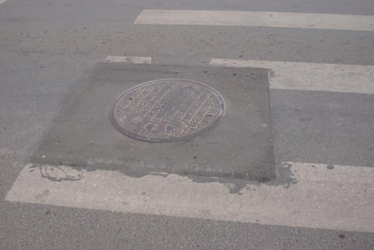 [QC小组成果报告]提高井盖周边沥青混合料路面观感质量