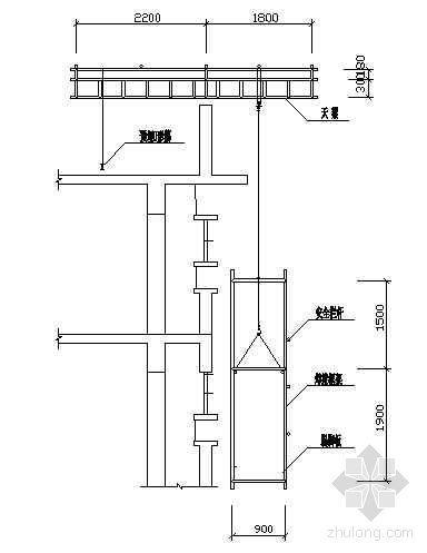 框架结构外装修吊篮装配图