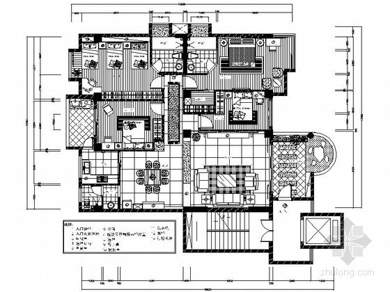 现代四居大户型室内装修图