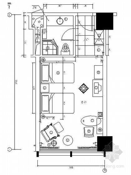 五星酒店标准双人房施工图