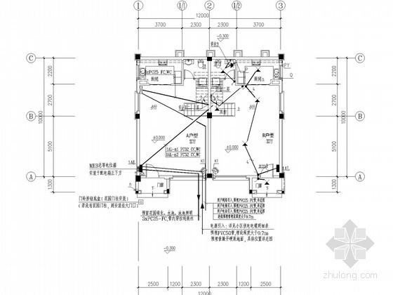 [广西]三层低层住宅楼强弱电施工图