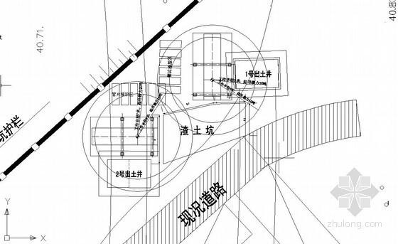 地铁施工现场场地平面布置图