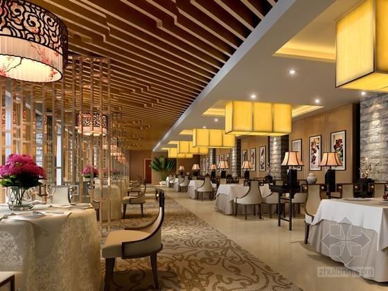 雅致餐厅3D模型下载