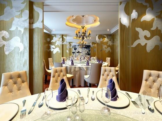 欧式豪华餐厅包厢3d模型下载