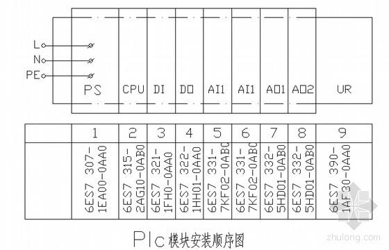 PLC全套原理接線圖
