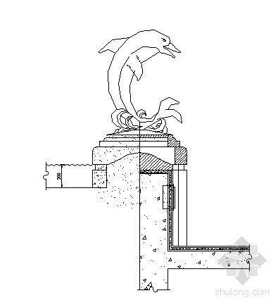 海豚雕塑施工图