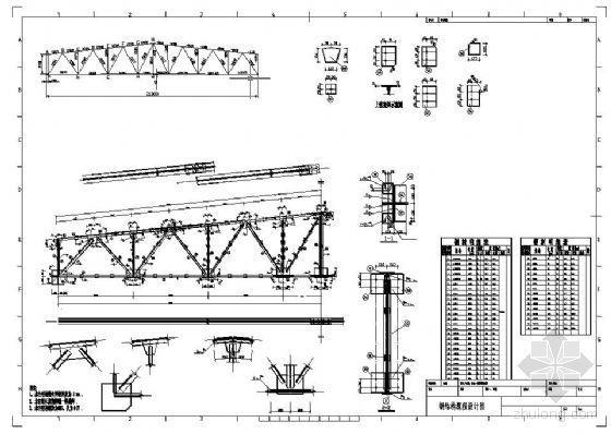 [学士]21米梯形钢屋架计算书及图纸