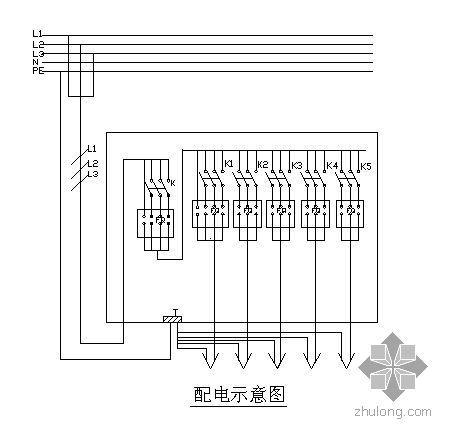 施工现场常用配电箱线路图