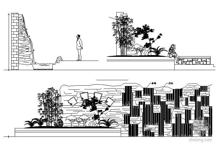水幕景墙施工详图