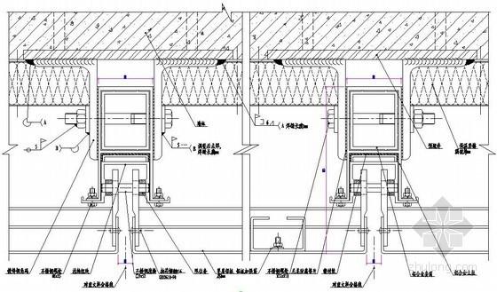 铝板幕墙标准横剖节点图