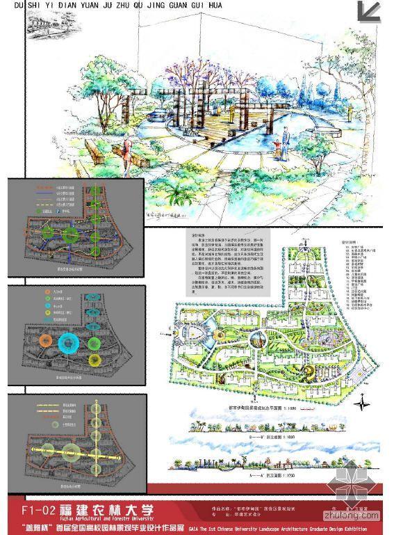 """""""都市伊甸园""""居住区景观规划"""
