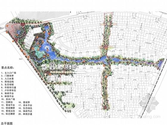 [广东]西班牙风情居住区景观规划设计方案