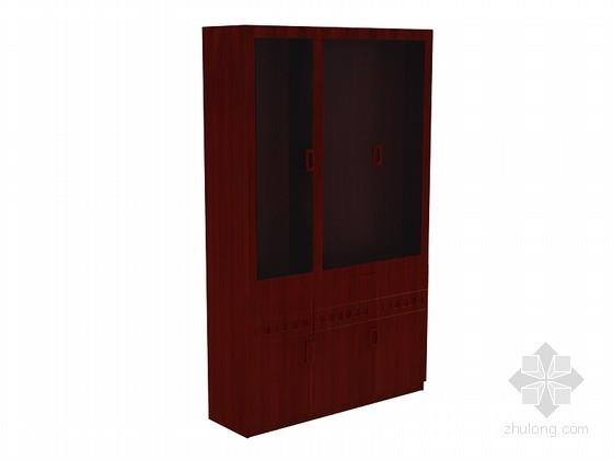 现代中式柜3D模型下载