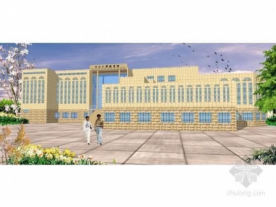 [浙江]现代风格知名大学图书馆建筑设计方案文本(含CAD  SU)