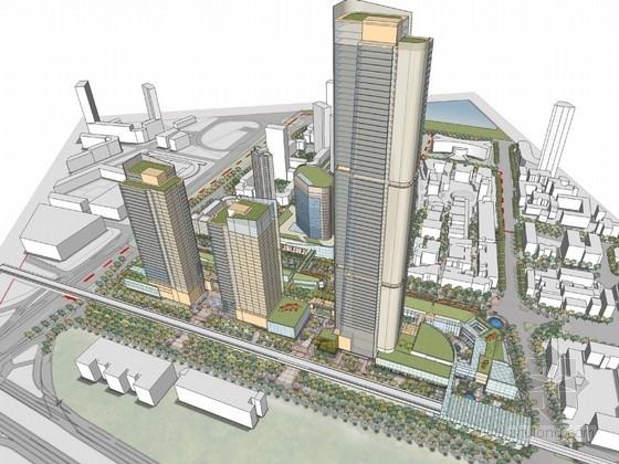 [湖北]滨江地区现代风格商业综合体建筑设计方案文本