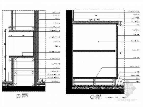 [杭州]现代简约三居室样板间装修图(含效果)大样图