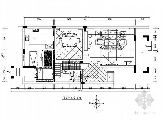 双层简欧家装别墅室内装修施工图(含效果)