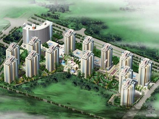 [北京]某现代住宅小区设计方案及文本(含效果图)