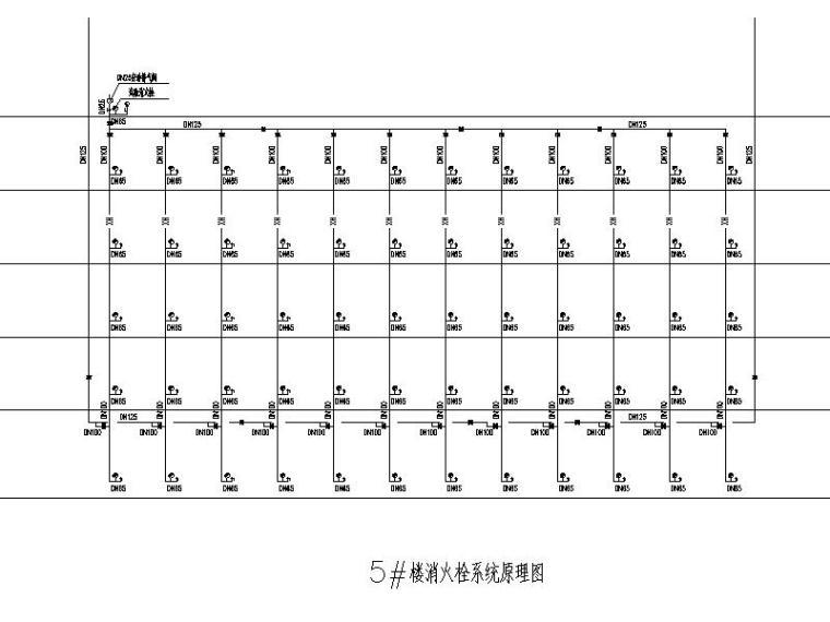 厦门大学翔安校区主楼群(1245#楼)初步设计文件(给排水工程)-5#楼消火栓系统原理图