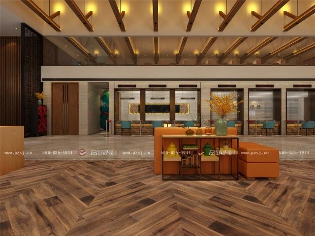 品筑出新作啦!内蒙古·兴安盟乌塔其银行室内设计效果图-07大厅.jpg