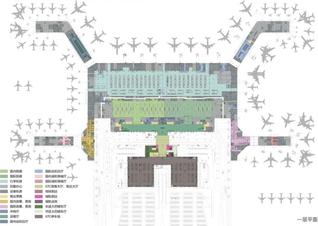 漫谈金属屋面的建筑设计应用(1)——广州新白云国际机场航站楼_21