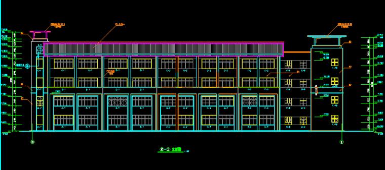 3层综合性学校教学楼建筑施工图