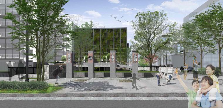 社区改造下沉广场景观方案设计文本(SU模型)_5