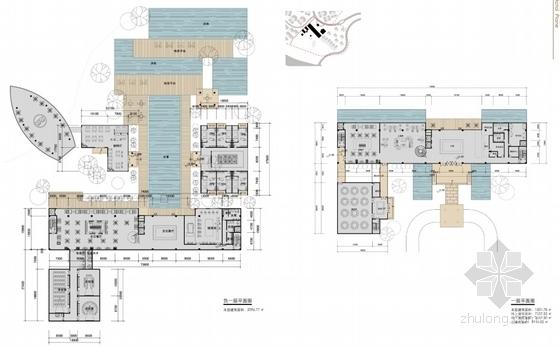 3套中式风格大型旅游度假区建筑平面图