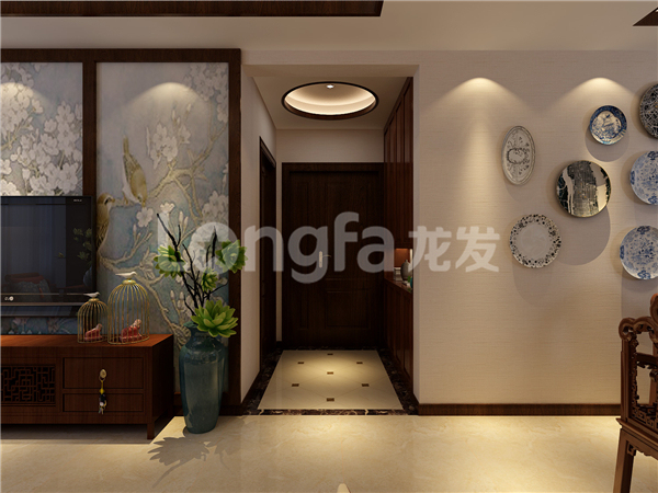 [西安龙发装饰]华清学府城160平米新中式风格_4