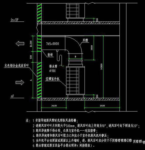 多联机常用安装大样图