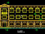 三层砖混结构县级机关生活服务中心建筑施工图