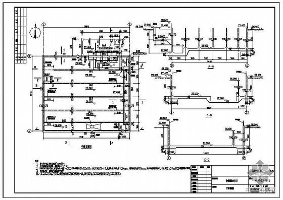 某城市污水处理厂消毒池结构图