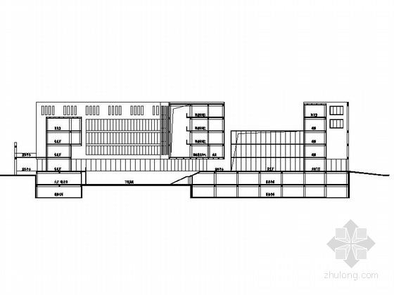 某知名大学图书馆建筑设计方案图(含效果图)