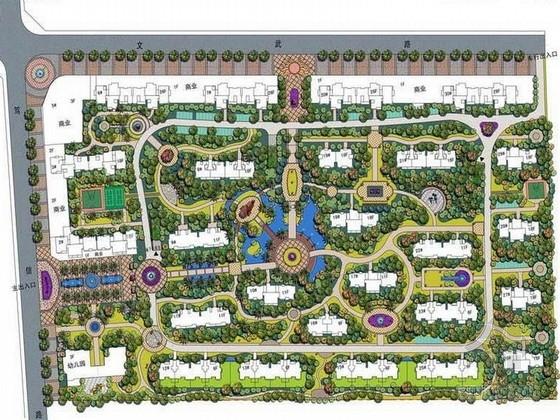 [河南]法式地中海风情高档住宅庄园景观设计方案(知名设计公司)