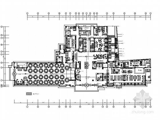 [山东]原创设计高端商务典雅中式风情五星级酒店装修施工图(含效果)