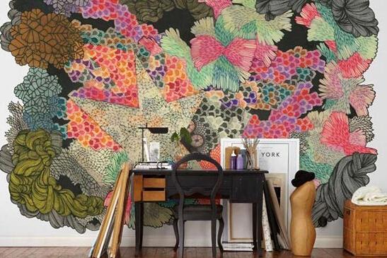 拒绝平庸,有什么墙纸可以比得上手绘的个性涂鸦墙呢?_9