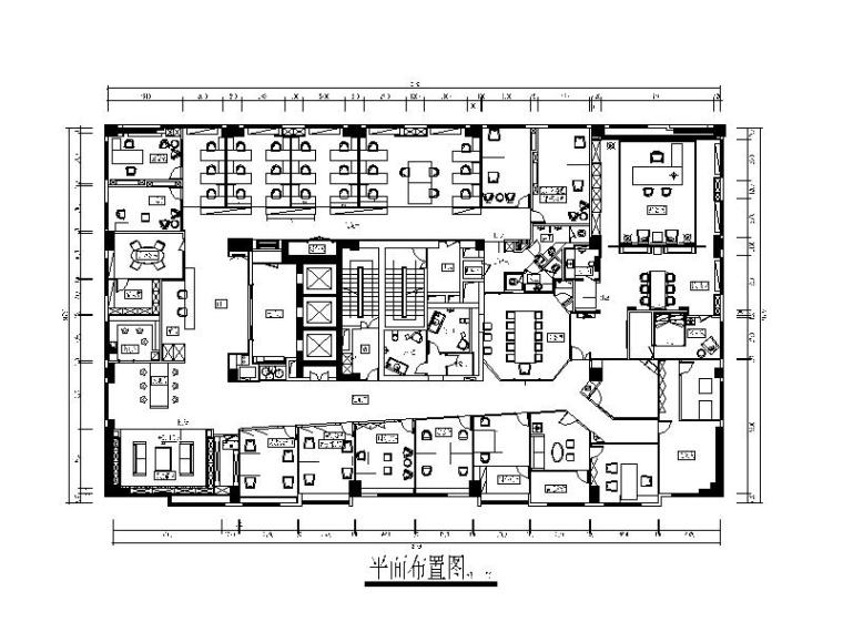 全套简约风格办公室设计施工图(含效果图)
