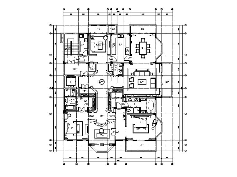 [江苏]两套样板房设计CAD施工图(含效果图)